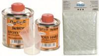 Polyester- und Epoxydharze, Glasfasermatten, Gelcoat