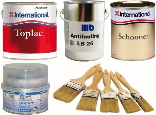 Farben, Antifoulings, Lacke und Zubehör