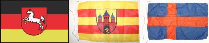 Stadt- und Länderflaggen