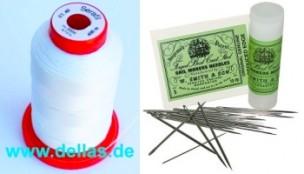 Nähgarn und Nadeln