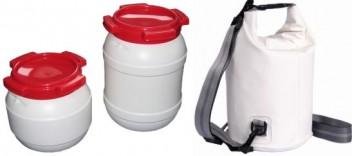 Wasserdichte Säcke und Tonnen