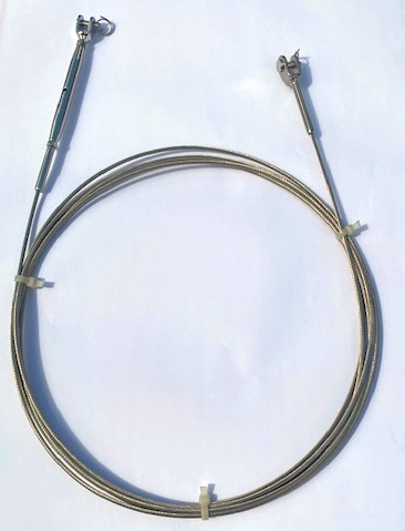 Draht, Gabelterminal - Wantenspanner (Standard) aus 1x19 Edelstahldraht 2,5 mm / bis 7,5 m