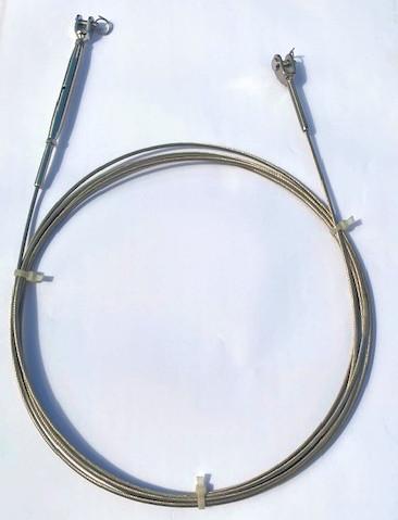 Draht, Gabelterminal - Wantenspanner (Standard) aus 1x19 Edelstahldraht 3,0 mm / bis 1,5 m