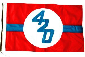 420er Klassenflaggen beidseitig genäht