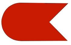 Klassenzeichen OK-Jolle zum Einkleben ins Segel