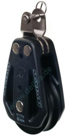 Einscheibiger Rutgerson Gleitlagerblock mit festem Gabelkopf 50, 60 oder 80 mm Scheiben-Ø