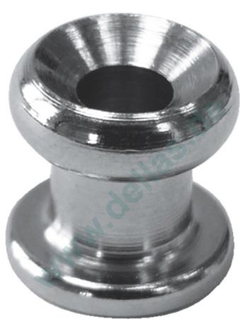 Persenningknopf Gummiseilhalter AISI316 Edelstahl A4 11 x 10 mm