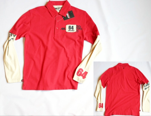 Musto Midway Polo Shirt rot, langärmlig