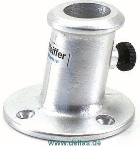 Flaggenstockhalter, Neigung 10° aus Aluminium