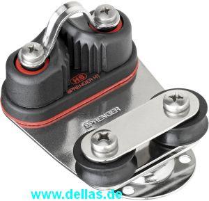 Drehbare Basis Gleitlager 8 mm - Schotklemme, Grundplatte