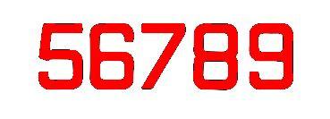 Segelnummern, 235 mm Rot
