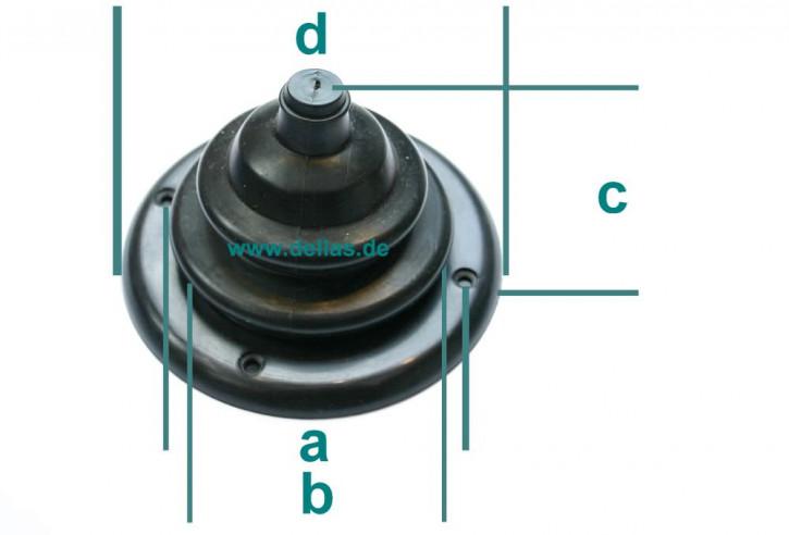 Spritzkastendurchführung 100 mm