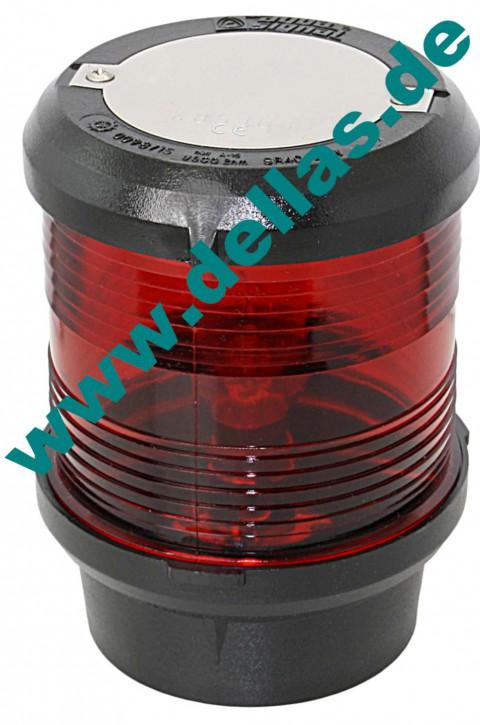 Signallaterne zum Festanbau, Rundumlicht, Rot, 12 Volt oder 24 Volt