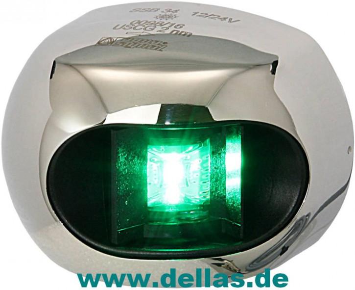 Aqua Signal LED Steuerbordlaterne Serie 34 mit Edelstahlgehäuse