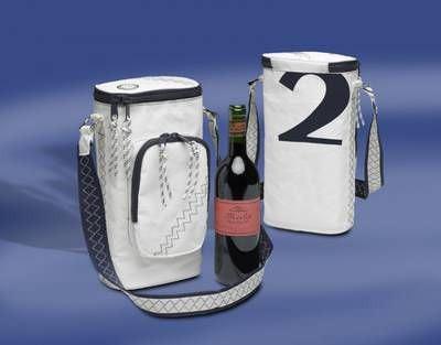 Segelstofftasche Weinkühltasche für 2 Flaschen (Schultertasche) Sea Princess