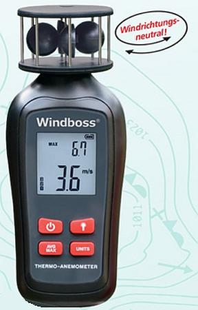 Windboss®2 - Thermo-Anemometer - Handwindmesser