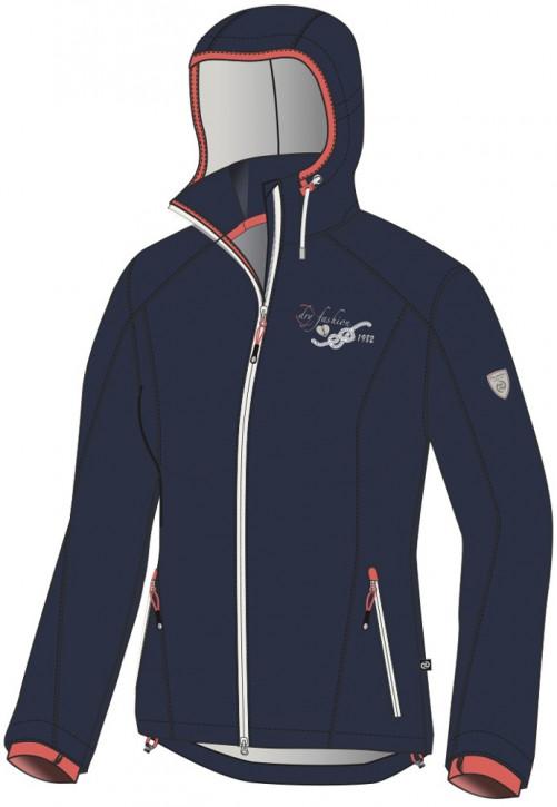 Dry Fashion Softshell-Jacke Hooge Damenjacke Navy