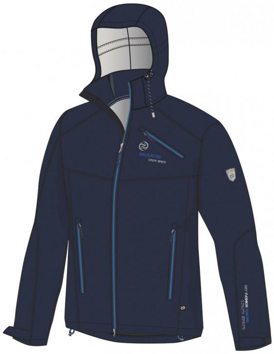 Dry Fashion Softshell-Jacke Amrum Navy