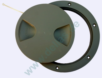 Inspektionsdeckel, Grau RAL7042