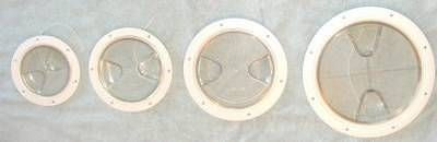 Inspektionsdeckel, transparent, 203mm