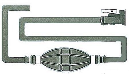 Treibstoffschlauch m.1 OMC Anschluss