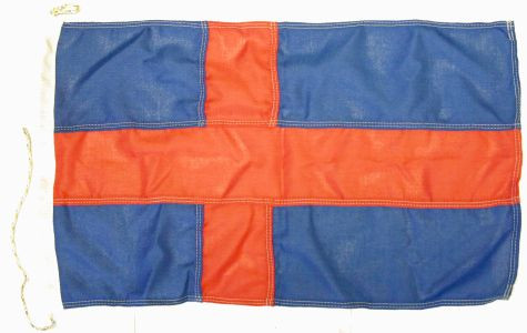 Flagge Oldenburg Land Blau mit rotem Kreuz