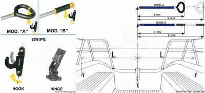 Aluminium Pinnenausleger/Pinnenfeststeller Friend 76 -87 cm Typ A