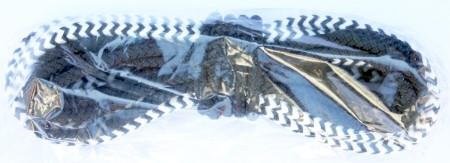 Opti Schot 7 m aus Polyester/Technora Weiß/Schwarz beidseitig verjüngt