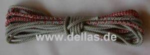 Opti Schot 7 m aus Polypropylene rot/silber beidseitig verjüngt