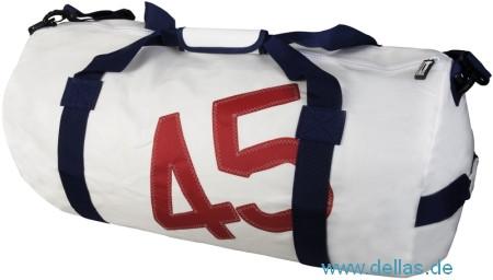 Segeltuch-Tragetasche, Barrel Bag Weiß
