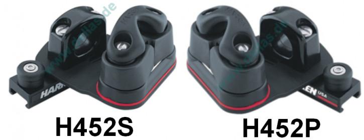 HARKEN Dinghy Pinstop Fockschot Schlitten mit Führung/Leitöse und Schwenkarm (Backbord oder Steuerbord))