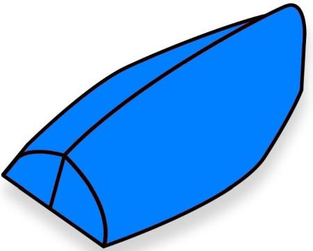 Roostersailing Laser Unterpersenning 1680D Polyester Blau
