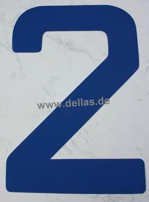 Segelnummer 2, 380 mm Blau