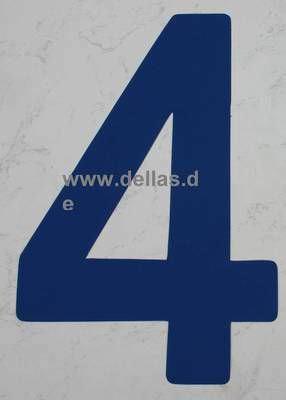 Segelnummer 4, 380 mm Blau