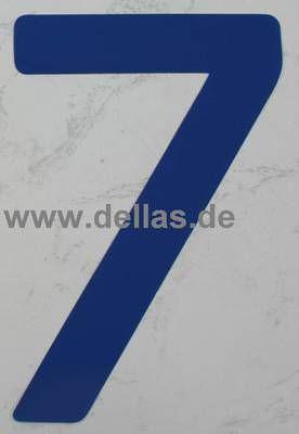 Segelnummer 7, 380 mm Blau