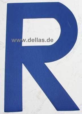 Segelnummer R, 380 mm Blau