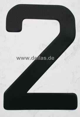 Segelnummer 2, 380 mm Schwarz