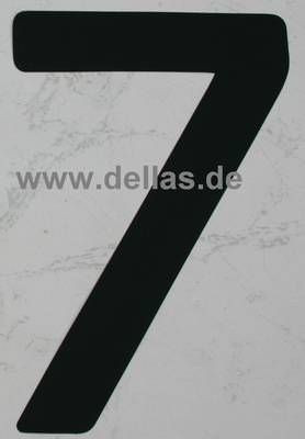 Segelnummer 7, 380 mm Schwarz