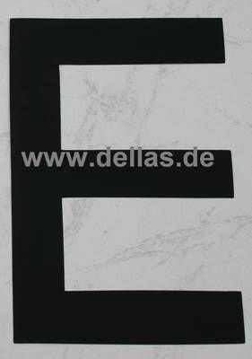 Segelnummer E, 380 mm Schwarz