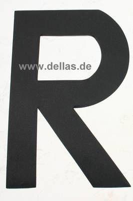 Segelnummer R, 380 mm Schwarz