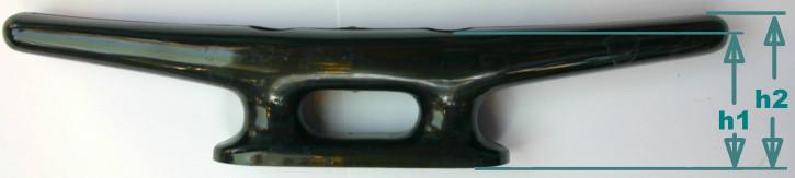 Belegklampe Kunststoff abgerundete Form Schwarz