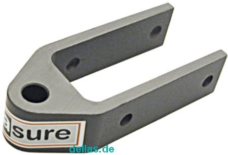 SeaSure Aluminium Ruderbeschlag kurz, Loch 8 mm