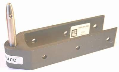 SeaSure Aluminium Ruderbeschlag, lang, Pin 8 mm