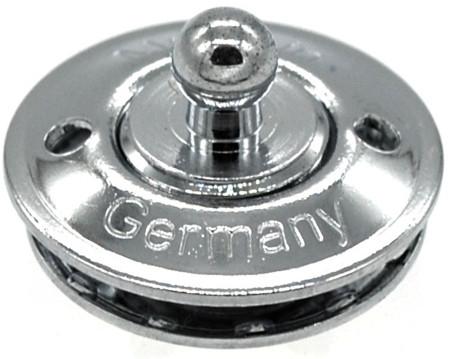 LOXX® Unterteil für Stoff, Messing verchromt 3 mm
