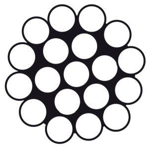 Edelstahldraht - Konstruktion 1 x 19 für stehendes Gut 3,0 mm