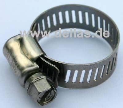 Schlauchschelle Edelstahl AISI 305 18 mm - 32 mm