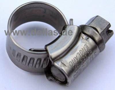 Schlauchschelle Edelstahl AISI 304 9,5 mm - 12 mm