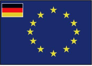 Flagge Europa-Rat, kleine Flagge Deutschland