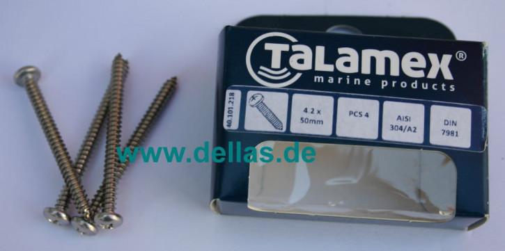 Blisterpack Linsenkopfblechschraube 4,8 x 50 mm A2