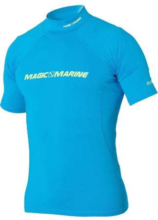 Magic Marine Cube Rash Shirt kurzärmlig blau